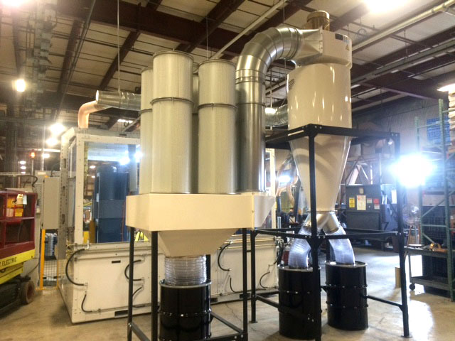 Commercial cyclone dust collectors for manufacturing facilities