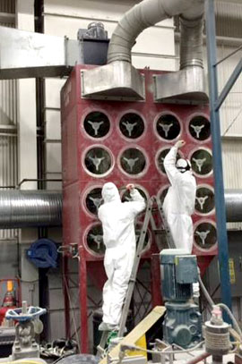 Commercial Air filter replacement in factories and commercial buildings