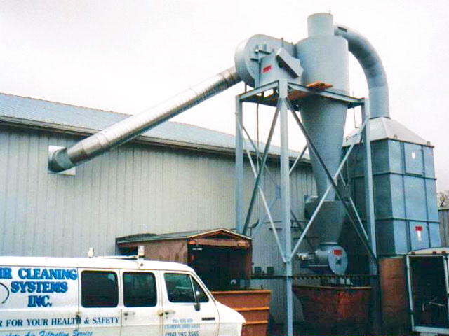 Wood Working dust collectors with rotary air lock and return after filters