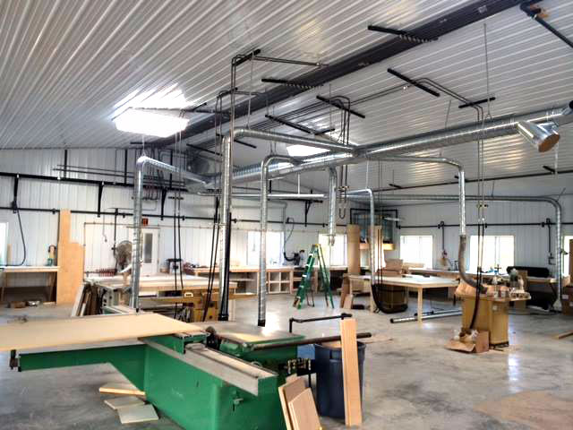 Dust Collection Systems Woodworking Dust Collectors Vocational Education Shop Dust Collection Systems