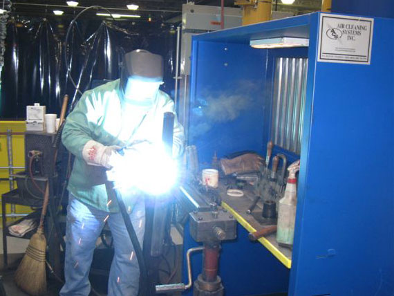 Industrial environmental booths for welding